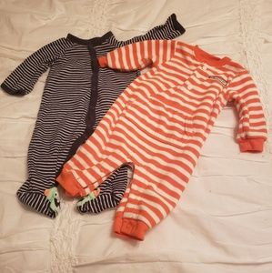 Carter's Baby Boy Monster & FoxOutfits. 6/9 Months